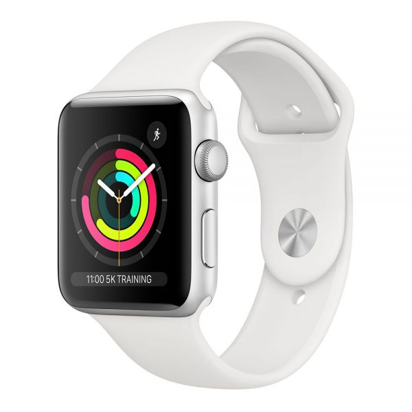 Watch Series 3 42mm Silver Aluminium Case with White Sport Band